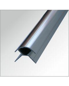 Eckprofil-Aussen Aluminium glänzend 2,60 m