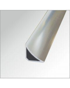 Abschluss Eckprofil, innen Aluminium, glänzend, 2,60 m