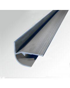 Eckprofil-Aussenabschluss Aluminium glänzend 2, 60m