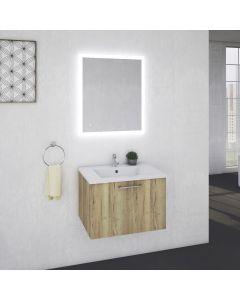 Spa 100 SET Waschtisch mit Unterschrank (inkl. Schublade) und LED-Spiegel - in 2 Farben